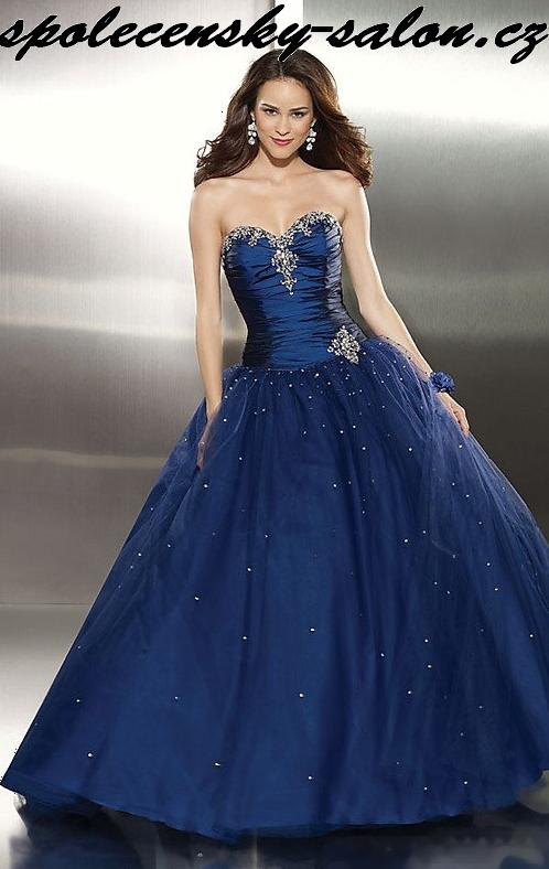 8474ac2fe606 plesové šaty Yvette 117 na míru maturitní ples modré červené ...